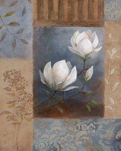 Art Print: Magnolia Spring Art Print by Nan : Art Floral, Art Actuel, Art Sur Toile, Kunst Poster, Acrylic Art, Botanical Art, Art Paintings, Painting & Drawing, Flower Art