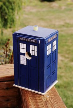 Dr Who Tardis Birdhouse by PropsShop on Etsy, $50.00