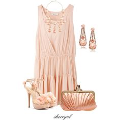 """Just Peachy"" by sherryvl on Polyvore"