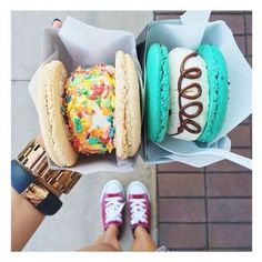 "Alimonada on Instagram: ""#icecream #macarons #yum #foodie #loveit... ❤ liked on Polyvore"