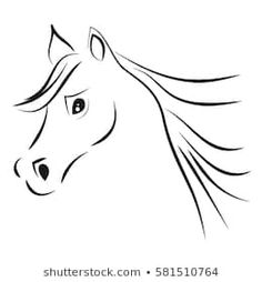 Horse Head On White Background Vector stockvector (rechtenvrij) 581510764 Horse Head Drawing, Button Crafts, Stock Foto, Silhouette, Horses, Drawings, Animals, Horse Head, Silhouettes