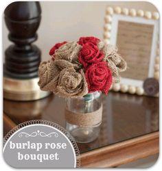#Burlap rose bouquet :)