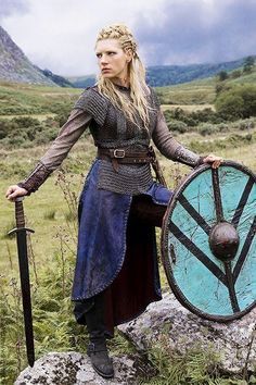Vikings shieldmaiden: Lagertha's career as a warrior began when Frø, king of Sweden, invaded Norway and killed the Norwegian king Siward. Description from pinterest.com. I searched for this on bing.com/images