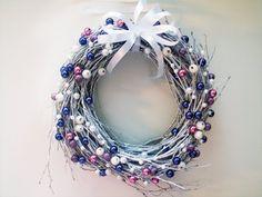 Wianek Świąteczny Fioletowo-Niebieski (proj. SZTUKATERIA), do kupienia w DecoBazaar.com