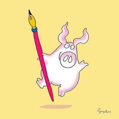 Pen and oink drawing.   -  Sandra Boynton