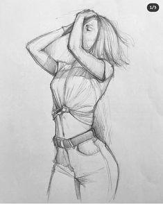 Dark Art Drawings, Pencil Art Drawings, Cool Drawings, Girl Drawing Sketches, Art Drawings Sketches Simple, Drawing Ideas, Beautiful Sketches, Beauty Illustration, Art Sketchbook