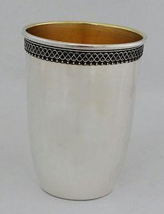 "Sterling silver 925 handmade ""barrel"" kiddush cup by STUBSILVERWARE on Etsy"