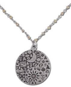 sun and moon yin and yang necklace