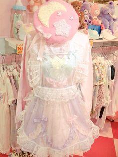 Outfit put together using clothing from fairy kei brand Nile Perch. Harajuku Fashion, Kawaii Fashion, Lolita Fashion, Cute Fashion, Style Kawaii, Ddlg Outfits, Kawaii Diy, Pastel Outfit, Pastel Fashion