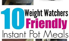 Looking for Weight Watchers Recipes for your Instant Pot or Pressure Cooker? Here's 10 TOP recipes to try! Slimming Recipes, Top Recipes, Amazing Recipes, Crockpot Recipes, Great Recipes, Favorite Recipes, Instant Pot Pressure Cooker, Pressure Cooker Recipes, Pressure Cooking