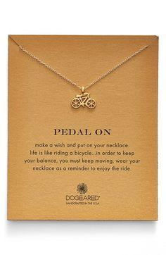 Dogeared 'Reminder - Pedal On' Bicycle Pendant Necklace available at #Nordstrom