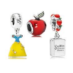(🍎New Pandora Disney Snow White Charms - Genuine ALE Sterling Silve r 🍎. Charms Jewellery Clothes Babies & Kids :) Hair Flowers & More! Disney Pandora Bracelet, Pandora Charms Disney, New Pandora, Disney Jewelry, Pandora Bracelets, Pandora Jewelry, Charm Jewelry, Jewelry Art, Pandora Sale