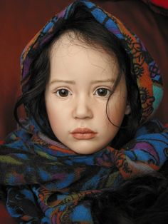 Stephanie, porcelain doll by artist Jeanne Gross, Limited Edition 10, Coloring & costuming may be customized