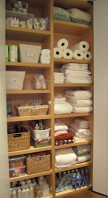 T H E O R D E R O B S E S S E D: What I Did Today: Organized a Linen Closet