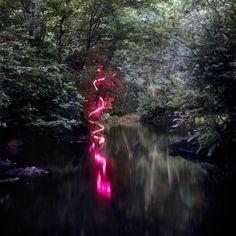 Landscape Light Sculptures by Barry Underwood