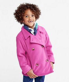 $34.99 Pink Hyacinth T200 Peacoat - Girls by Lands' End
