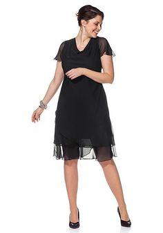 sheego Style Abendkleid – schwarz