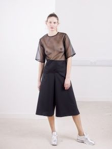 Wool Wrap Culottes - Black | NOT JUST A LABEL