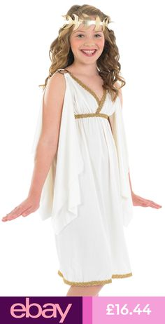 GIRLS CLEOPATRA EGYPTIAN ROMAN GREEK GODDESS FANCY DRESS COSTUME 39afbe7c1bd