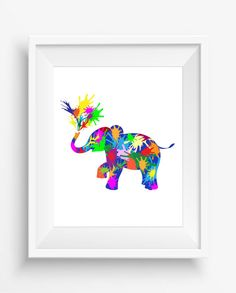 Elephant, illustration animal, watercolor,digital print,nursey decor,home decor,jpeg,300 dpi