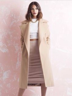 I want a nude oversize coat like this for winter
