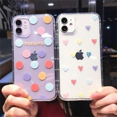 $10.55 | Cute Love Heart Shockproof Phone Case For iPhone 11 Pro Max SE 2020 X XR XS Max 6 6s 7 8 Plus Cartoon Wave Point Shell. Cute Iphone 5 Cases, Iphone 7 Phone Cases, Girl Phone Cases, Phone Cases Marble, New Iphone, Best Iphone Case Brands, Iphone 8 Plus, Iphone Models, Smartphone