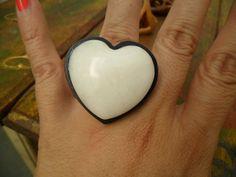 AR Essencial Joias Eco - Friendly - Anel Coração Dolomita Branca