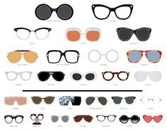 FAMOUS EYEWEAR FROM POP CULTURE BY POP CHART LAB