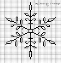 Snowflake.  Would be pretty stitched in silver on dark blue.