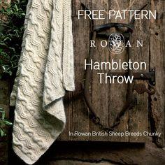 Free Pattern - Knitted Rowan Hambleton Throw