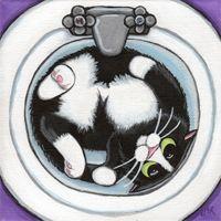 Whimsical Cat Art by UK Artist Lisa Marie Robinson