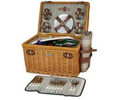 The Enchanted Evening Collection - B for 4 is a medium finish upgraded wicker picnic basket, of woven bent willow, with deluxe service for four. Wicker Picnic Basket, Willow Wood, Enchanted Evening, Romantic Gifts, Hamper, Mother Day Gifts, Make It Yourself, Sunshine, Club