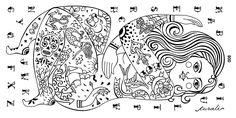 Curali Nail Stamping Plate Tattoo 008 ABC woman mom sugar skull hand face hair feet legs siren anchor bird rose