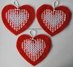Questa è la settimana che precede S.Valentino, il Santo degli innamorati. E cosa c'è di più significatovo che festeggiarlo con un cuore ross...