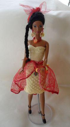 de Gravhelio Barbie Dress, Crochet, Harajuku, Creations, Dolls, Dresses, Style, Fashion, Color