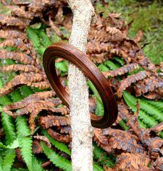 Koa Wood Laminated Bangle Bracelet by UpcountryDesign on Etsy, $15.00