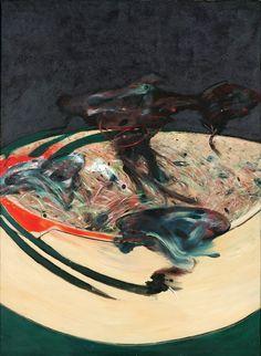 "hipinuff: "" Francis Bacon (British: 1909-1992), Landscape near Malabata, Tangier, 1963. Oil on sand and canvas. """