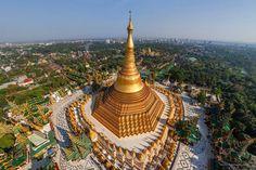 Pagode Shwedagon, lugar que nasceu de um fio de cabelo do Buda | #Jmj, #LugaresDoMundo, #Myanmar, #PagodeShwedagon