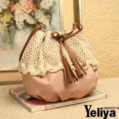 Pearl tassel bucket bag shoulder bag - US$ 25.35