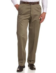 Haggar Men's Work To Weekend Hidden Expandable Waist No Iron Plain Front Flat-front dress pant with hidden expandable waist featuring side-slant pockets and welted back pockets Zip fly with button closure Classic Fit Mens Dress Pants, Pants Outfit, Mens Big And Tall, Big & Tall, Casual Pants, Khaki Pants, Mens Slacks, Men's Fashion Brands, Slim Fit Trousers