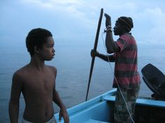 With King, a fisherman we met who took us out at dawn with him to see his work - Cahuita, Costa Rica