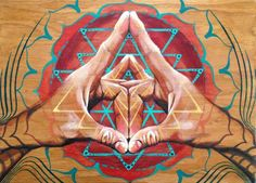 """""""When reflex points of the fingertip are pressed, these healing substances are released and one can rebalance any diseased area of the body."""" ~ The Healing Art of Mudras, Deborah Nasca Mudras are hand gestures or simple formations of the fingers and hand Geometry Art, Sacred Geometry, Ayurveda, Image Zen, Psy Art, Chakra Meditation, Visionary Art, Sacred Art, Flower Of Life"""