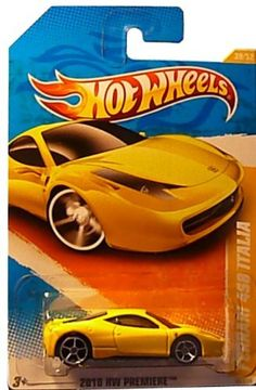 Hot Wheels 2011, Ferrari 458 Italia, 2010 New Models 34/240. 1:64 Scale. by Mattel. $7.99. Ages 3 and up. 1:64 Scale die cast. Ferrari 458 Italia (yellow)