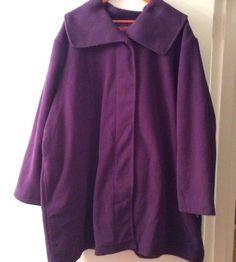 Great Gift NEW Woman Within  Women Jacket Swing Coat Microfiber Purple 3X #WomanWithin #BasicJacket