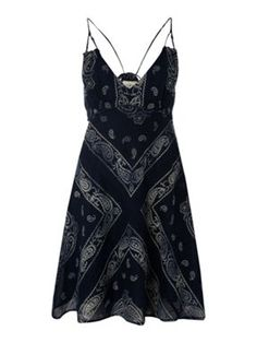 Denim and Supply Ralph Lauren Sleeveless paisley print mini dress Navy - House of Fraser