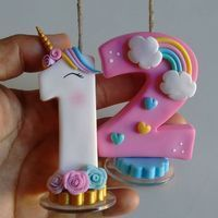Ideas For Birthday Cake Number Topper Letters Fondant Toppers, Cupcake Toppers, Cupcake Cakes, Number Cake Toppers, Fondant Numbers, Fondant Letters, Unicorn Birthday Parties, Girl Birthday, Birthday Cake