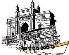 Branding a Chain of QSR in Ahmedabad Indian Illustration, Travel Illustration, Illustration Sketches, Graphic Illustration, City Drawing, Doodle Art Drawing, Mumbai City, Mumbai Map, Shivaji Maharaj Hd Wallpaper