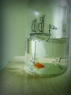 Fish bowl | unda the deep blue sea