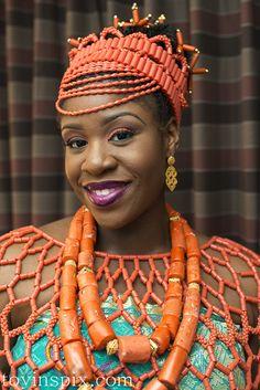 Nigerian bride, traditional wedding