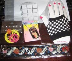 Mudd True Love Bracelet 6 pc. Earrings Glove Super Girl Dog Tag & Earring Holder